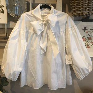 Nordstrom Women's White Blouse XXL 1901 NWT